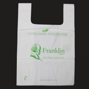 white compostable shopping bag