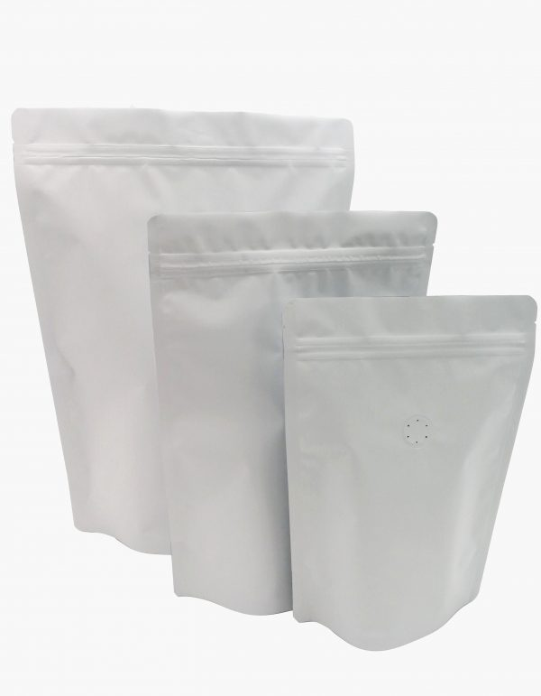 Stand Up Pouches White