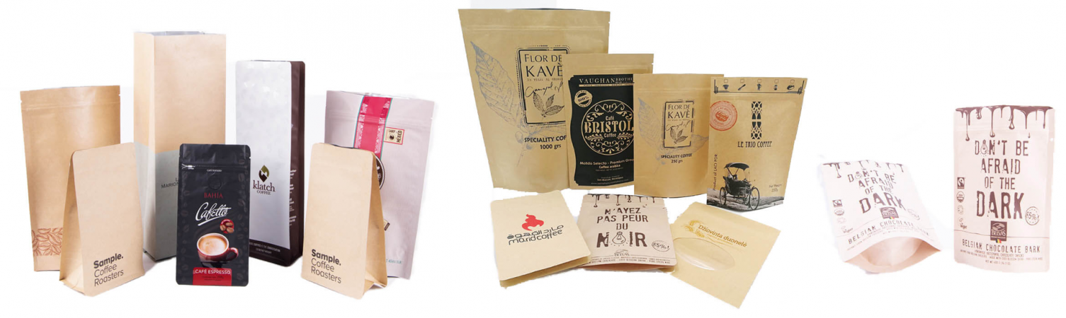 coffee paper packets banner