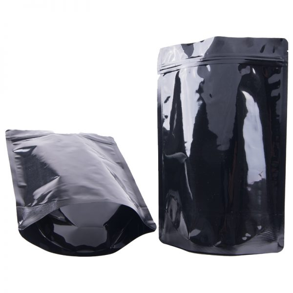 Black Colour Stand Up Pouches