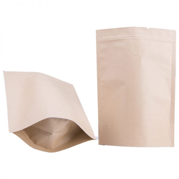 stand up pouches kraft colour