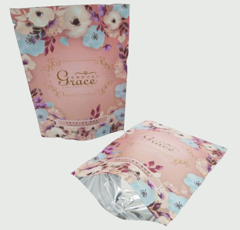 pink printed packaging